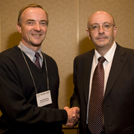 dowling,Professor Dowling and ASA President Gilles A. Daigle
